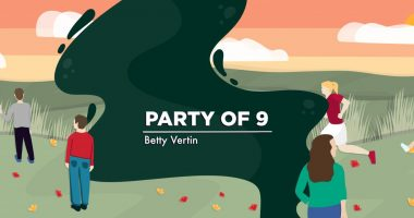 A banner for Betty Vertin's