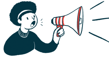 SRP-9001 | Muscular Dystrophy News | Illustration of person speaking through megaphone